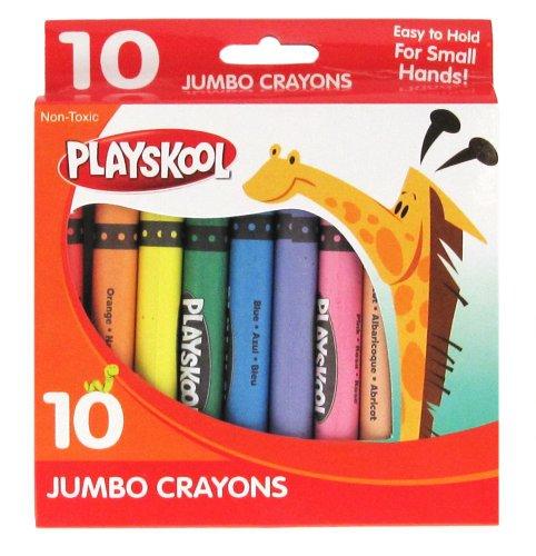 Playskool 10-Count Jumbo Crayons