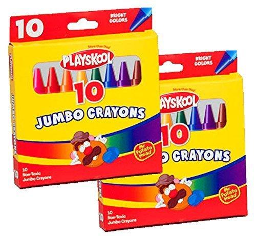 Playskool Jumbo Crayons 10 Count 2 Packs