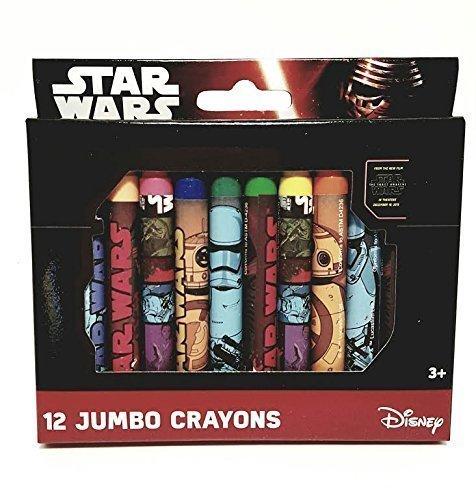 Star Wars 12 Jumbo Crayons Disney