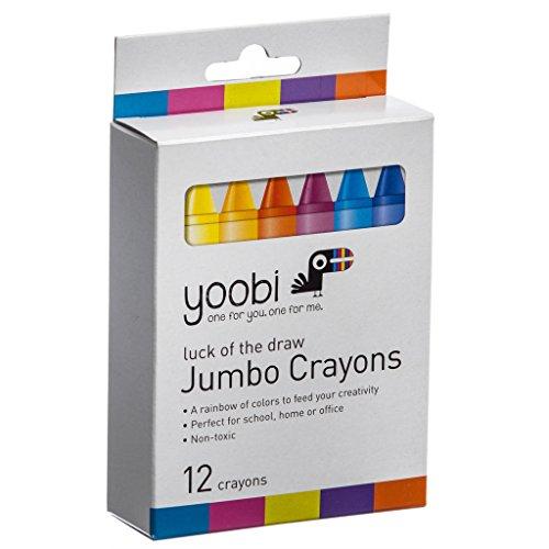 Yoobi Luck of the Draw Jumbo Crayons 12 Count
