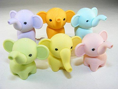 Iwako 6 new pastel colour Zoo Animal Elephant Japanese Erasers