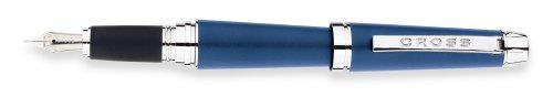 Cross C-Series Fountain Pen Monaco Blue with Rhodium Plated Solid 18kt Gold Nib - Medium Nib AT0396-5MD