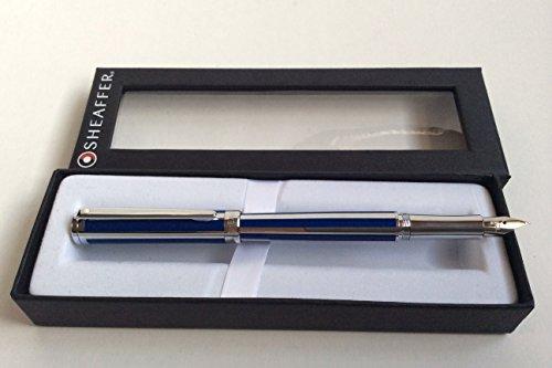 Sheaffer Intensity Ultramarine Striped Medium Point Fountain Pen - SH-9230-0