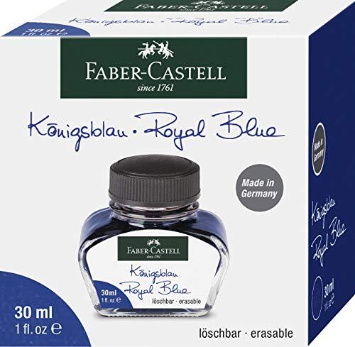 Faber-Castell 30ml or 625ml Bottled Ink Refill for Fountain Pen 30ml Royal Blue