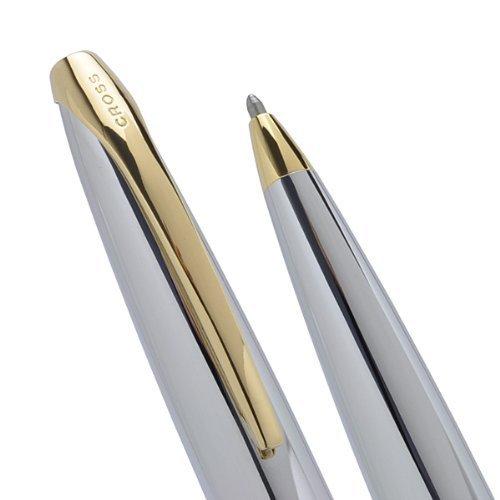 Cross ATX 23KT Gold and Chrome Medalist Medium Ballpoint Pen