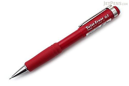 Pentel Twist-Erase III Mechanical Pencil - 2 HB Pencil Grade - 07 mm Lead Size - Burgundy Barrel - 1 Each