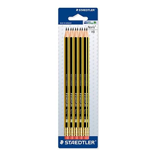 Staedtler Noris 122 HB Pencil with Eraser Tip Pack of 10