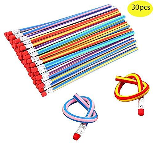 Haawooky Kids Children Flexible Soft Pencil Magic Bend School Fun Equipment 30 Piece