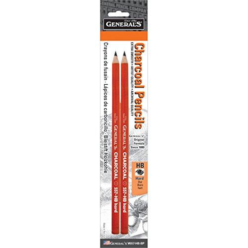 Charcoal Pencils 2Pkg-HB
