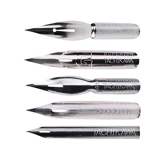 MyLifeUNIT Tachikawa Comic Pen Nib Set - 5 Nibs