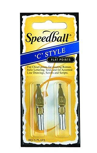 Speedball Flat Lettering Drawing C Style Pen Nibs C2C3 C-2 C-3
