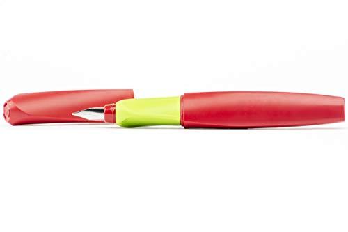 Pelikan Twist Fountain Pen Medium Nib RedGreen Pen with 2 Ink Cartridges 923425