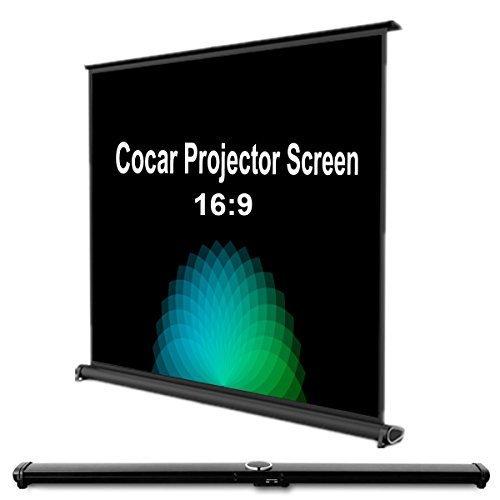 Cocar 50 Portable Movie Screen 169 for MiniProfessional LEDLCDDLP Projector Self Standing Installation Free Pull-Out Style Indoor Outdoor Home Cinema 3D 4K HD Movie