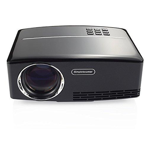 Mileagea GP80 Series Video projector 1800 Lumens LCD Mini Projector Multimedia Home Theater Video Projector 1080P Support HDMI USB SD Card VGA AV for Home Cinema Theater Video Games