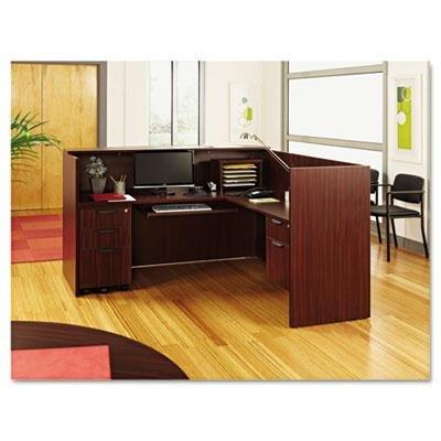 Alera - Valencia Series Reception Desk WCounter 71W X 35-12D X 42-12H Mahogany Product Category Office FurnitureDesks