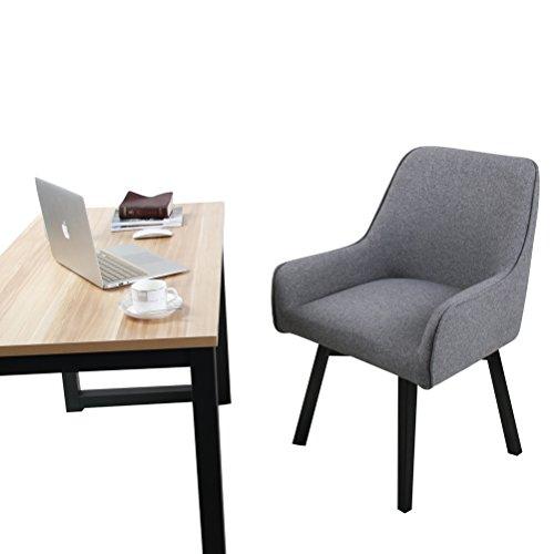 Swivel Desk Chair Upholstered Home Office Chair Task Chair Dark Grey