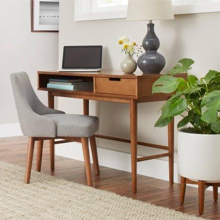Better Homes and Gardens Flynn Mid Century Modern Desk Pecan