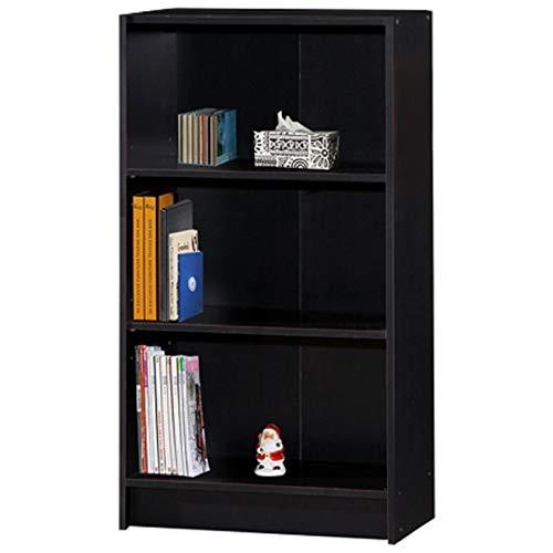Pemberly Row 3 Shelf Bookcase in Black