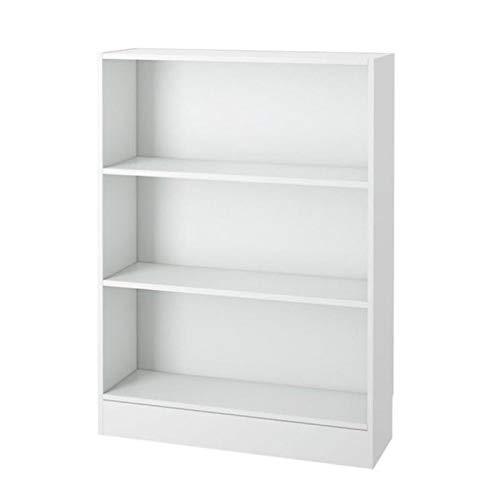 Scranton and Co 3 Shelf Wide Contemporary Bookcase in White