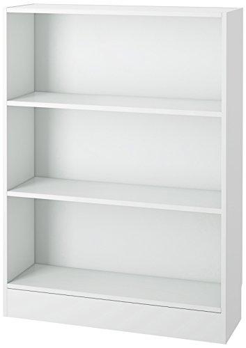 Tvilum Element Wide 3 Shelf Bookcase Short White