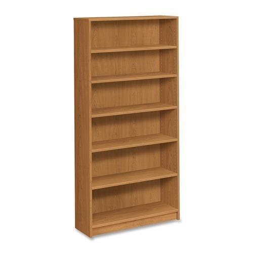 HON 6-Shelf Bookcase 4 Adj 36x11-1272-58 Harvest 1876C