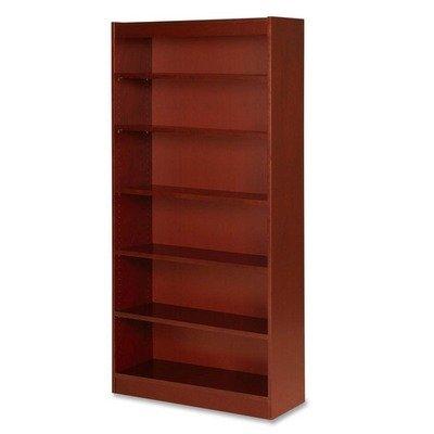 Lorell Panel End Cherry Hardwood Veneer Bookcases-6 Shelf Panel Bookcase 36quotx12quotx72quot Cherry
