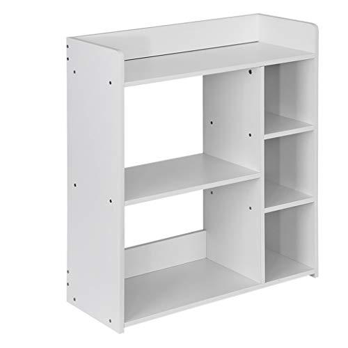 Midress 6-Shelf Bookcase Bookshelf Book Rack Storage Shelf Rack White DIY Simple Combination Home Multi-Layer Floor Rack for Bedroom Office 236×95×268 White