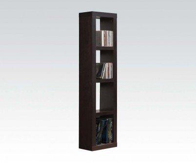 1PerfectChoice Carmeno Espresso Bookcase Cd Dvd Unit