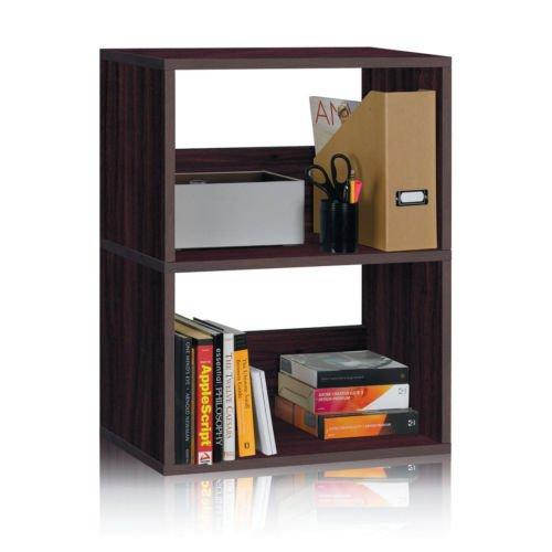 Andrade Duplex 30 2 Shelf Cube Unit Bookcase Espresso