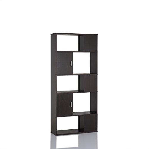 Kalen Contemporary Style Espresso Bookcase