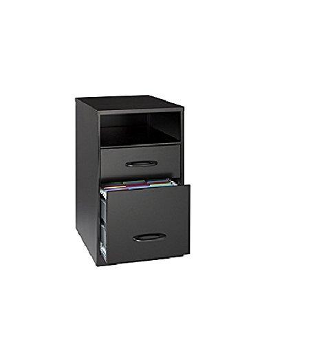 Office Designs Black 18505 Steel 2-drawer File Cabinet with Shelf