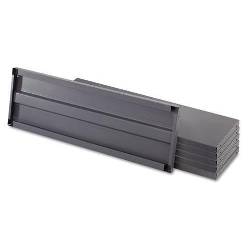 Safco 6250 Heavy-Duty Industrial Steel Shelving Six-Shelf 36w x 12d Dark Gray