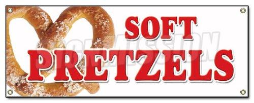 SOFT PRETZELS BANNER SIGN pretzel stand cart signs