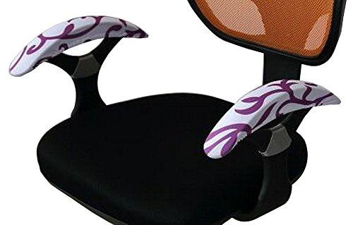 Armrest Pads Comfy Office Chair Armrest Cover for Elbows Leaf Purple 01