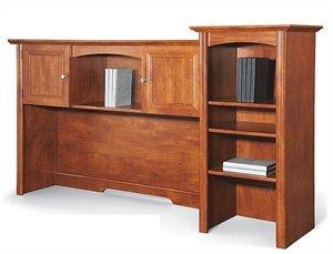 Realspace Broadstreet 65W Hutch for U-Shaped Desk Maple
