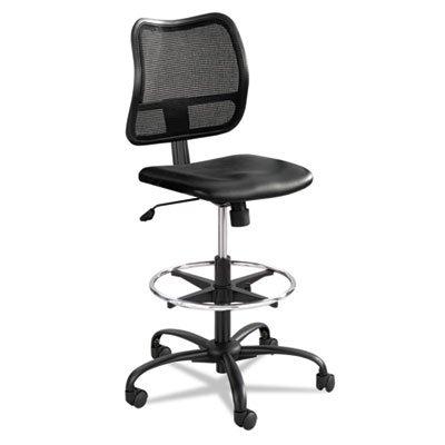 - Vue Series Mesh Extended Height Chair Vinyl Seat Black -