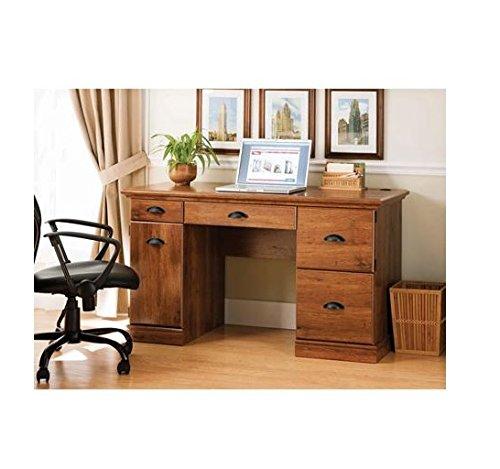 Better Homes and Gardens Computer Desk Laptop Writing Table Workstation Cabinet Wood Furniture Oak