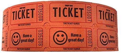 The Ticket Gurus Double Smile Raffle tickets-2000roll Orange