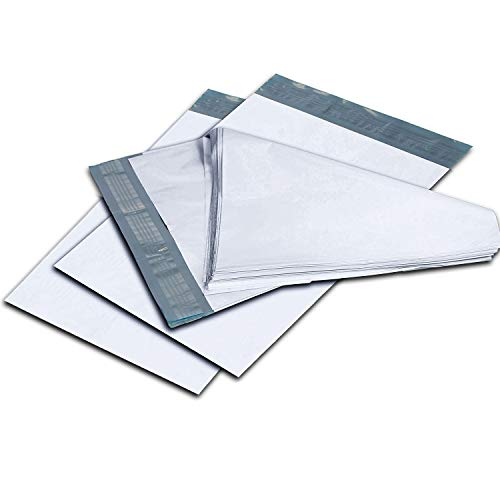 1000 Pack 2 75 x 105 Inch Oknuu Packaging Supplies White Poly Mailers Self-Sealing Shipping Envelopes Plastic Mailing Bags 25 Mil Thickness 75x105 PM75X105