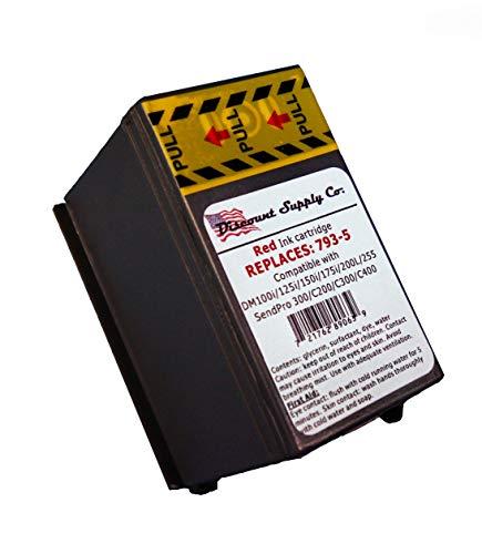 Pitney Bowes Compatibe 793-5 Red Ink Cartridge for P700 DM100i DM125i DM150i DM175i DM200L DM225 Postage Meters