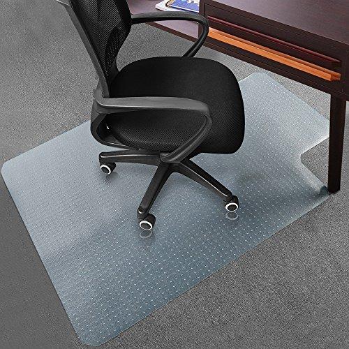 Office Desk Chair Mat for Carpet Anti-Slip PVC Hard Wood Floor Chair Mat 48 x 36 from Sallymall - No BPA Phthalates Odorless Lip