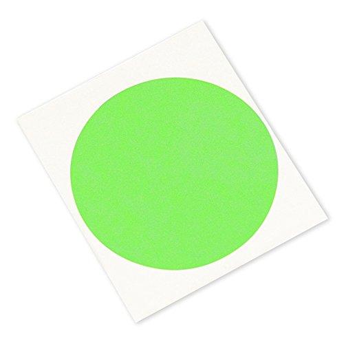 3M 401 Circle-2500-100 High Performance Masking Tape - 2500 Circles Crepe Paper Green Pack of 100