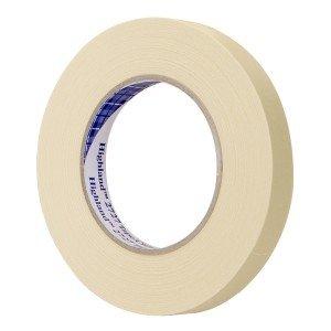 3M Highland 2727 Crepe Paper Automotive Refinish Masking Tape 60 yds Length x 34 Width Tan