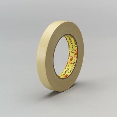 3M Scotch 2308 Crepe Paper Masking Tape 250 Degree F Performance Temperature 22 lbsin Tensile Strength 55m Length x 72mm Width Tan