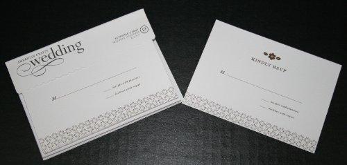 American Crafts Wedding Varnish Branches RSVP- 12 Response Cards Envelopes