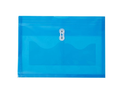 Poly Envelope with String-Tie Closure LetterA4 Size Blue 5 per Pack