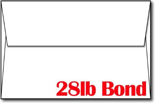 28lb70lb Bright White A9 Envelopes 5 34 x 8 34 - 100 Envelopes - Desktop Publishing SuppliesTM Brand Envelopes