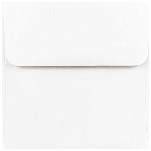 JAM PAPER 45 x 45 Square Invitation Envelopes - White - 100Pack