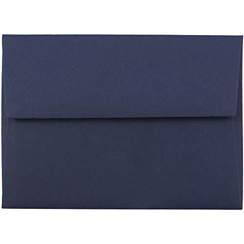 JAM PAPER 4Bar A1 Premium Invitation Envelopes - 3 58 x 5 18 - Navy Blue - 100Pack