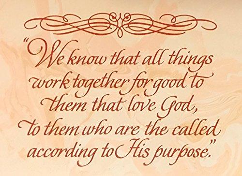 10 Count DaySpring Romans 828 Scripture Blank Note Cards - Ecru Envelopes